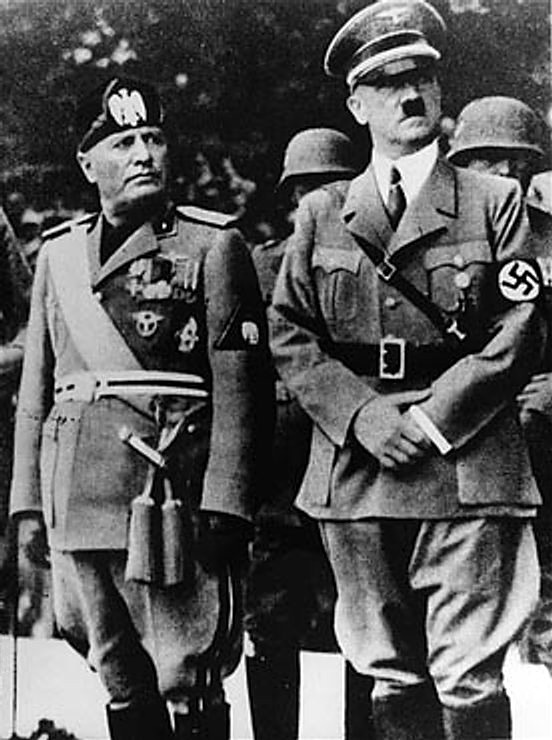Mussolini και Hitler