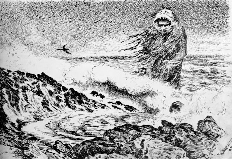 Ένα τρολ απ' τη συλλογή του Νορβηγού ζωγράφου Theodor Kittelsen (1857 – 1914).